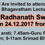 HH Radhanath Swami Maharaj in Chennai on Dec 24