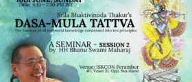 Dasa-Mula Tattva, Seminar,...