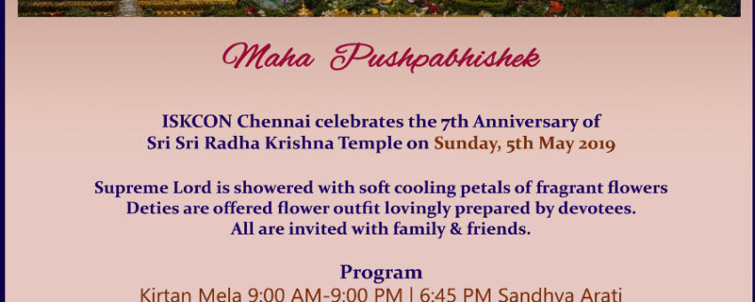 Maha Pushpabhisek, Sunday, May5