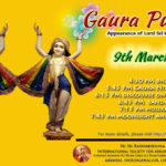 Gaura Purnima festival ( appearance day of lord chaitanya mahaprabhu) on 9th march 2020