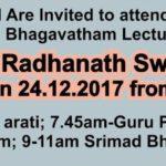 HH Radhanath Swami Maharaj in Chennai on Dec 24