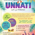 UNNATI, Summer Camp for Teenagers, April 19-21